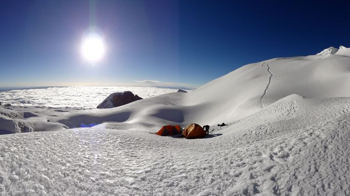 High Camp at 5615 metres