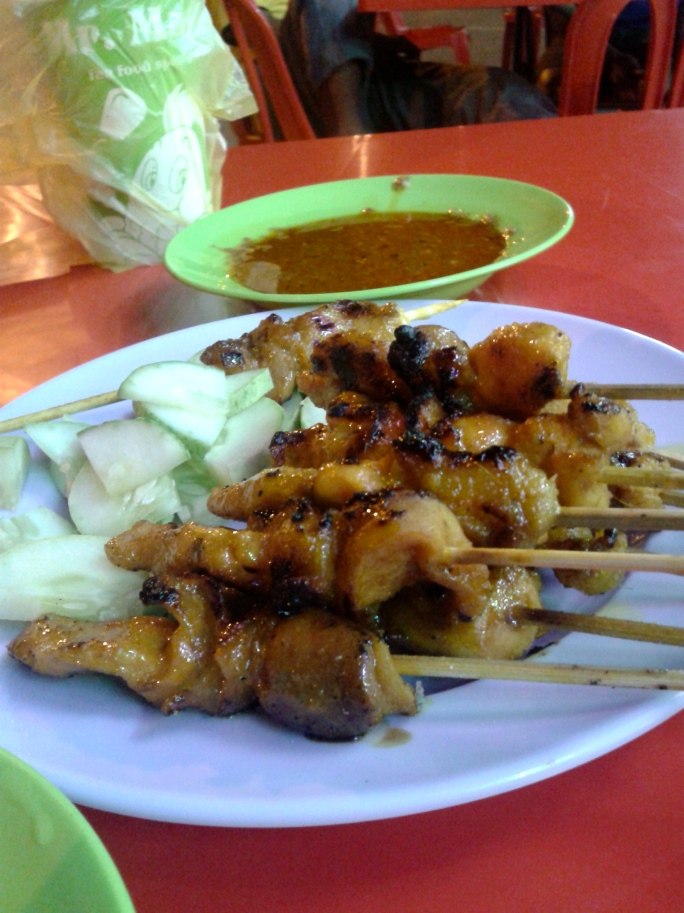 Well, there is always time for satay.