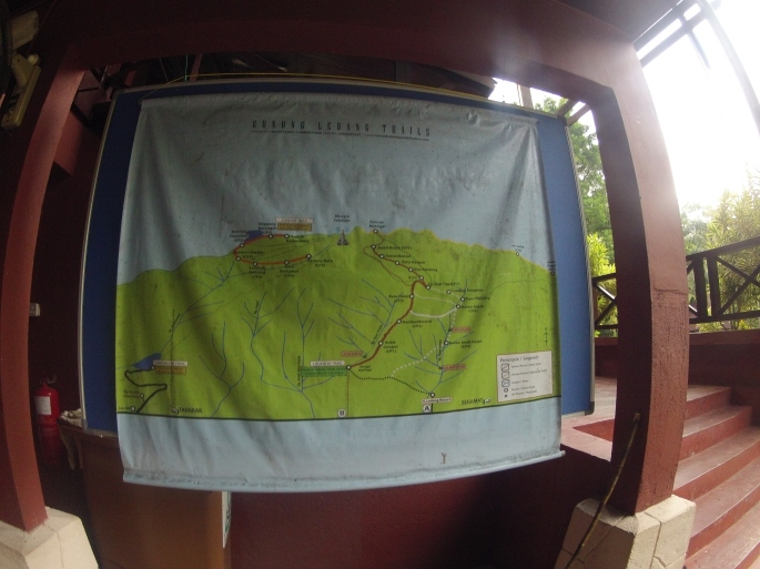 The map. We took the route called Lagenda trail.