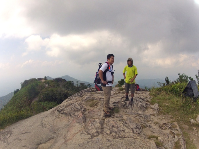 Riz and Fakrul (guide) on the summit
