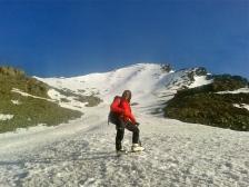 Cloud and I climbing Stok Kangri to 5900metres.