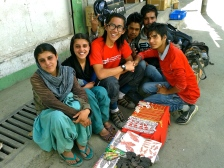 The Rajasthan shoemaker family and friends making a living at Leh.