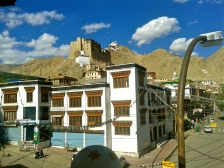 Leh Palace in the distance