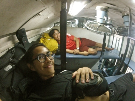 Train from Kolcutta to Dehli. 21hrs in the sleeper class. Not very fun.