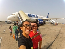 Took GoAir for the flight.