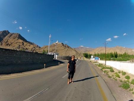 On the way to Shanti Stupa