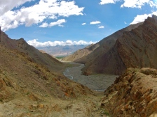 The view from a high pass from stok village to camp 1