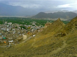 Gloomy weathers in the town of Leh