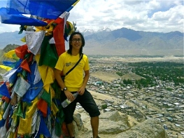 Me with the view of Leh town