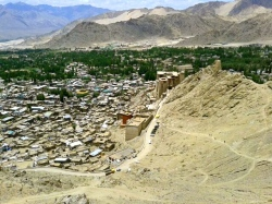 Perfect weather in the town of Leh