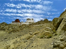 View of Leh Palace and Monastery from below.