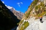Start of trek from Chame to Pisang