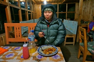 Samie and her dinner