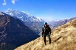 Tilicho Lake, Annapurna II and Annapurna Circuit behind. Sponsors like Nitecore, X-Boundaries and X-Trekkers are on my jacket.