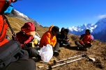 Team Discussion at Base Camp