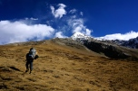 Naren and I approach the High Camp