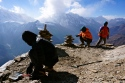 Preparing for High Camp at 5000m, where normally it would be at 5400m.