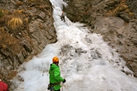 Ice Climbing at Near Humde Airport in Annapurna