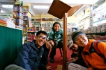 Group shot with me on the most left at a local book store in Leh
