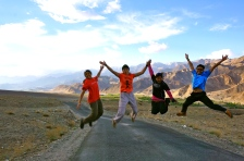 Jump shot after back from another day of tour.