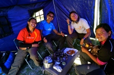 The team at campsite day 1