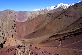 Descending the high pass.