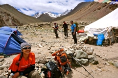 The team taking a good rest on day 3 before reaching base camp.