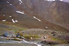 Base camp at 4915m.