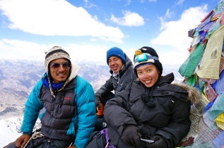 The Malaysian Team on the summit at 6153m.