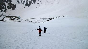 Approaching the summit Ridge. (Photo by Veronica)